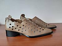 Босоножки женские на каблуке бежевые