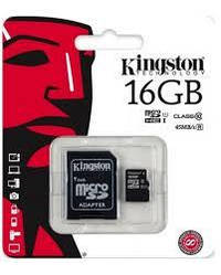 Карта памяти  Kingston Canvas Select 16Gb class 10