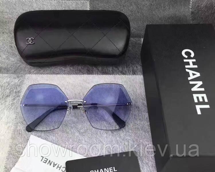 Женские безоправные солнцезащитные очки (71180) голубые