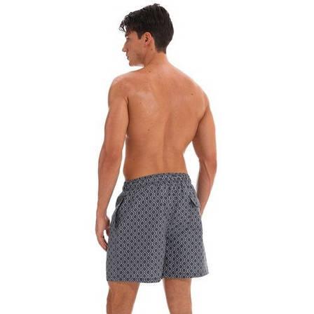 Шорты мужские пляжные тёмно-серые с узором- 159-05-2, фото 2
