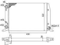 Радиатор охлаждения двигателя (МКПП) AUDI 80, 90 1.4/1.6/1.8 08.86-09.91