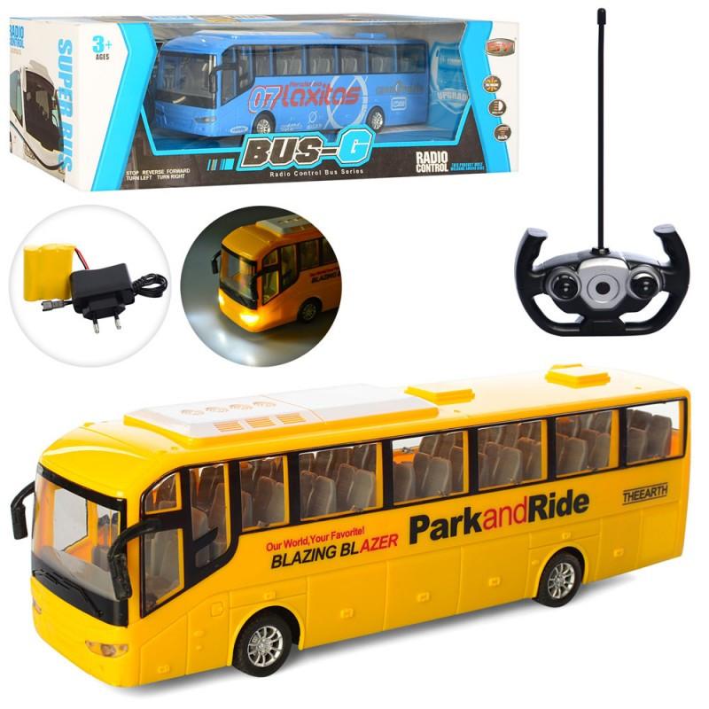 Автобус 666-698A радіокерування, на акумуляторі, світло, гумові колеса, в коробці, 40,5-13,5-12,5 см