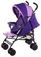 Коляска трость Quatro Mini №9 фиолетовый - св.розовый