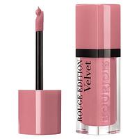 Жидкая матовая помада для губ Bourjois Velvet № 10 Don't pink of it - Легкий розовый 6.7ml ОР