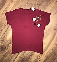 ESMIRA футболка с камнями батал
