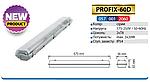 Светильник корпус PROFIX60D  IP54 под 2 лампы Т8 60см LED , фото 2