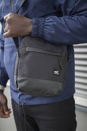 Барсетка Puma черная Unique пума сумка через плечо мужская, фото 2