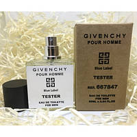 Givenchy Pour Homme Blue Label EDT 50ml TESTER  (туалетная вода Живанши Пур Хом Блю Лейбл тестер)