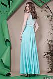 Красивое женское вечернее длинное платье в пол 42-46р (4расцв) , фото 6