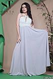 Красивое женское вечернее длинное платье в пол 42-46р (4расцв) , фото 7