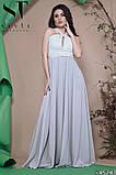 Красивое женское вечернее длинное платье в пол 42-46р (4расцв) , фото 8