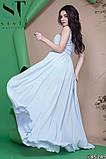 Красивое женское вечернее длинное платье в пол 42-46р (4расцв) , фото 10