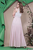 Красивое женское вечернее длинное платье в пол 42-46р (4расцв) , фото 3