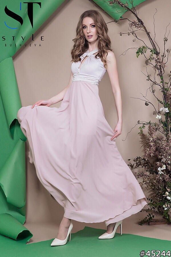 Красивое женское вечернее длинное платье в пол 42-46р (4расцв)