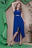 Женское вечернее асимметричное платье в пол 42-46р (7расцв) , фото 3