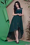 Женское вечернее асимметричное платье в пол 42-46р (7расцв) , фото 7