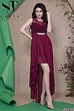 Женское вечернее асимметричное платье в пол 42-46р (7расцв) , фото 5