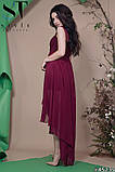Женское вечернее асимметричное платье в пол 42-46р (7расцв) , фото 6