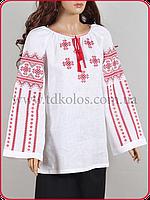 Женская вышитая рубашка «Сирень красная»