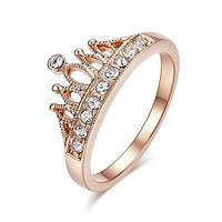 """Позолоченное кольцо """"Королева Мирабелла"""" (16.0 16.5 17.0 18.0 19.0 размеры в наличии)"""