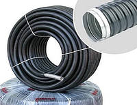 Металлорукав в ПВХ изоляции (металорукав, гофра металлическая, рукав металлический) без протяжки
