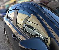 Дефлекторы стекол Mercedes Benz Actros 1843 (ПРЯМОЙ) накл.деф.окон
