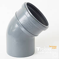 Колено канализационное 110/45 Европласт