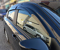 "Ветровики Cadillac CTS III Sd 2016  деф.окон ""CT"""