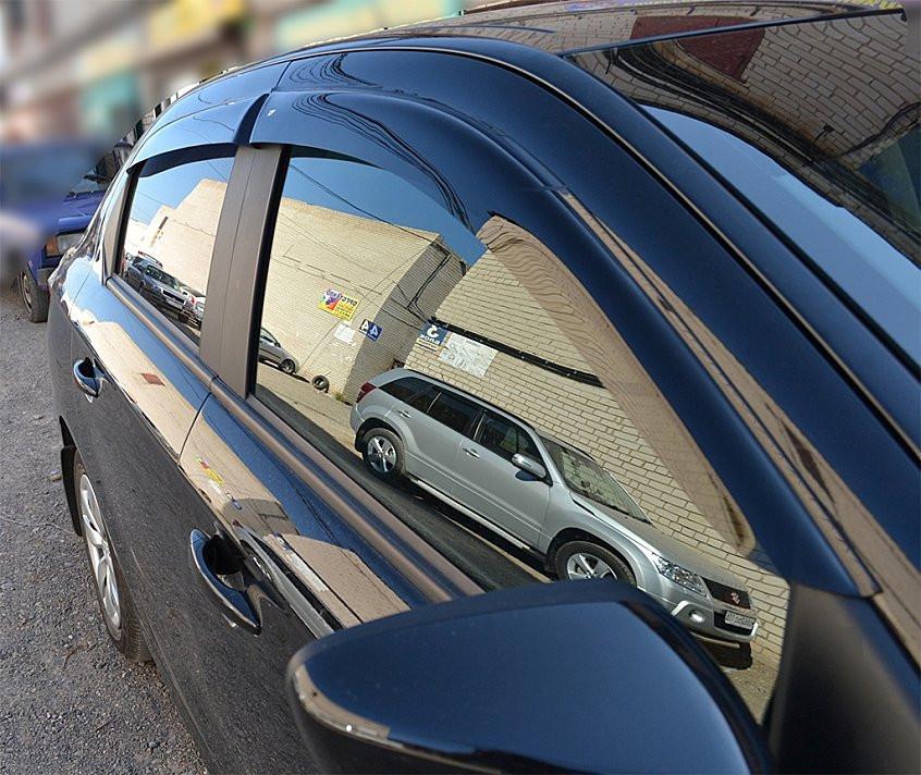 """Ветровики Cadillac SRX I 2004-2009 деф.окон """"CT"""""""