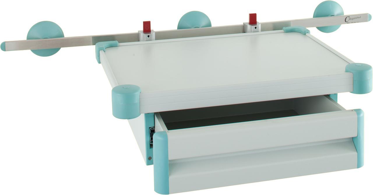 Полка для монитора с выдвижным ящиком – рейкового типа