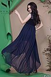 Женское вечернее асимметричное платье в пол 42-46р (7расцв) , фото 8