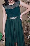 Женское вечернее асимметричное платье в пол 42-46р (7расцв) , фото 2
