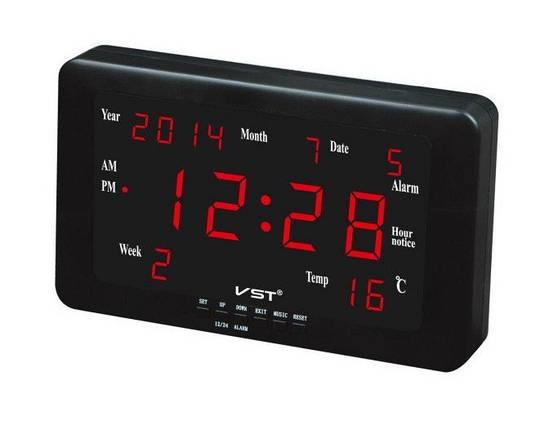 Часы сетевые 802 W-1 настенные (красные ), фото 2