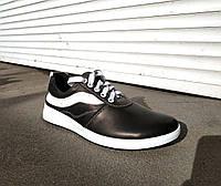 Кроссовки мужские кожаные черные 40 -45 р-р, фото 1