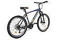 """Горный велосипед CROSSRIDE SPIDER 26"""" Черный/Голубой, фото 3"""
