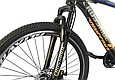 """Горный велосипед CROSSRIDE SPIDER 26"""" Черный/Голубой, фото 4"""
