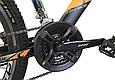 """Горный велосипед CROSSRIDE SPIDER 26"""" Черный/Голубой, фото 6"""
