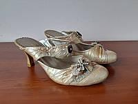 Босоножки туфли женские на каблуке бежевые, фото 1
