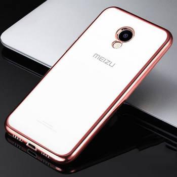 Прозрачный силиконовый чехол для Meizu M5 с глянцевой окантовкой
