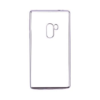 Прозрачный силиконовый чехол для Xiaomi Mi Mix с глянцевой окантовкой