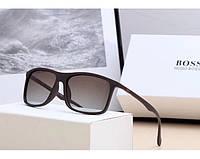 Мужские солнцезащитные очки в стиле Boss (0992) коричневые, фото 1