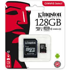 Карта памяти  Kingston Canvas Select 128Gb class 10