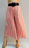 Летние брюки-юбка №DA253 крупная полоска