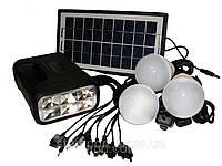 Аккумуляторный фонарь c солнечной батареей Solar Lighting System GDLite GD-8017B - аварийное освещение, фото 1