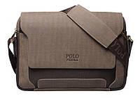 Мужская кожаная сумка. Стильный портфель.  Сумка через плечо. Офисная сумка. Код: КСД10.