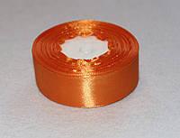 Стрічка атласна 25 мм ( 23 метри) світло - оранжевий 16313