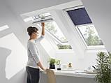 Мансардное влагостойкое окно VELUX Стандарт GLU 0051, ручка сверху, дерево/полиуретан, 66х118, фото 3