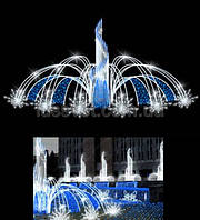 Световая фигура - фонтан  LUMIERE  3D FOUNTAINS  EF015