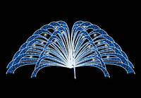 Світлова фігура - фонтан LUMIERE 3D FOUNTAINS EF016