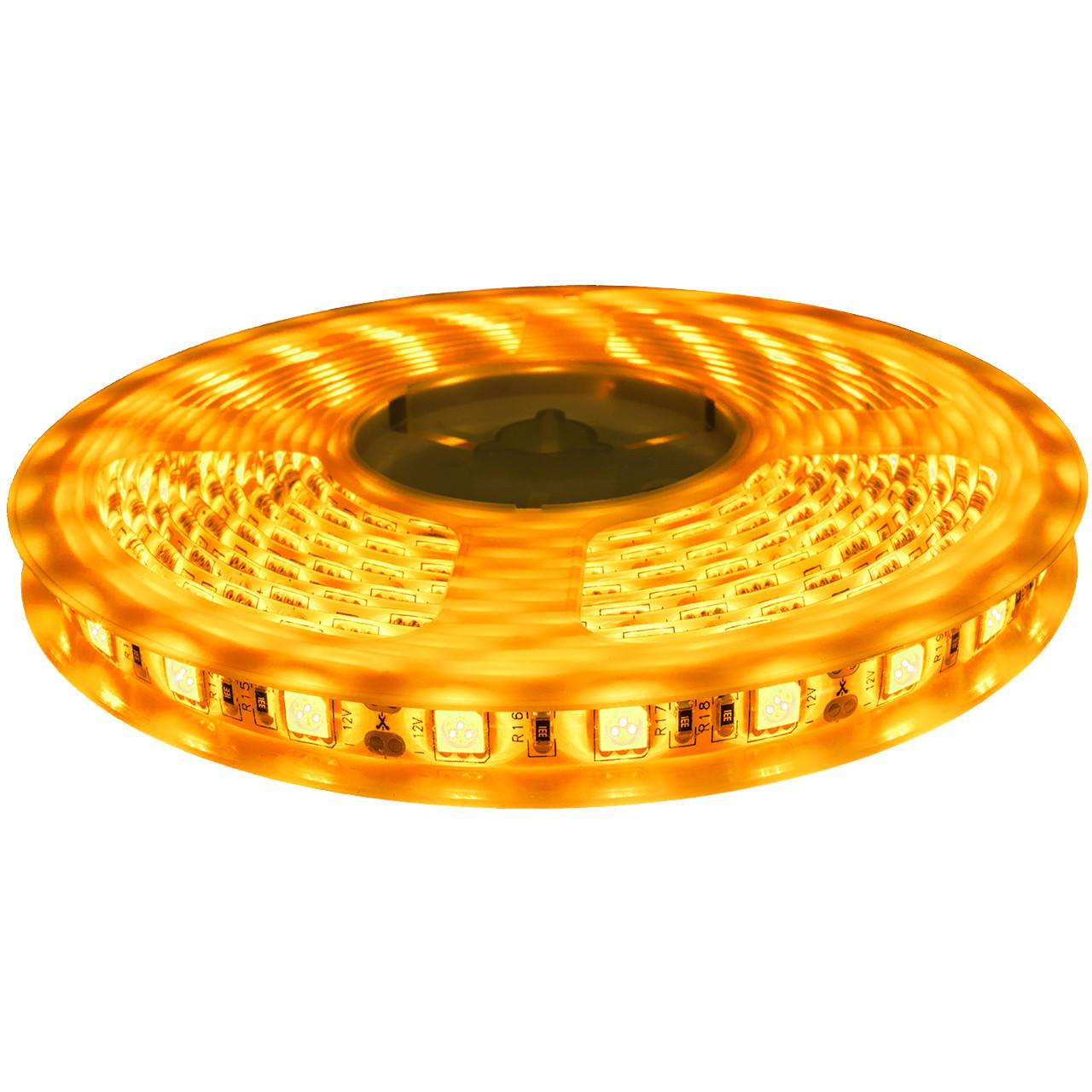 Dilux - Светодиодная лента SMD 5050 60LED/m, IP65 Royal Yellow ( Янтарная )